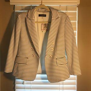 Black and White Striped Nautical Blazer